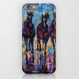 Free Roaming Wild Horses  iPhone Case
