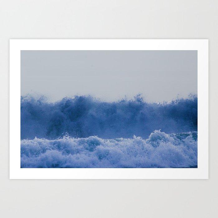 Blue Sea Wave Art Print