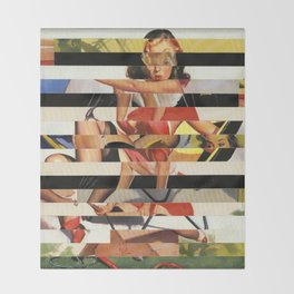 Glitch Pin-Up Redux: Lindsey Throw Blanket