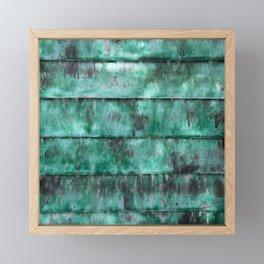 Glazed water flow Framed Mini Art Print
