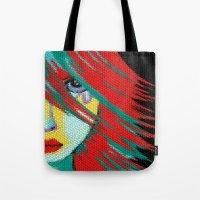 indie Tote Bags featuring Mosaic Indie by Sartoris ART
