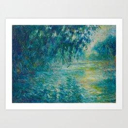 Claude Monet Impressionist Landscape Oil Painting Morning on the Seine Art Print