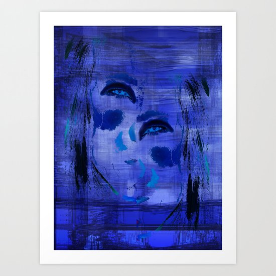 Blue Woman 2 Art Print
