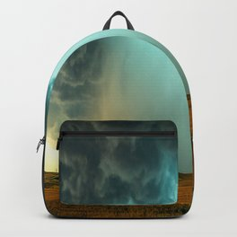 Open the Heavens - Panoramic Storm with Teal Hue in Northern Oklahoma Backpack