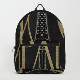 I Love Paris Black Backpack