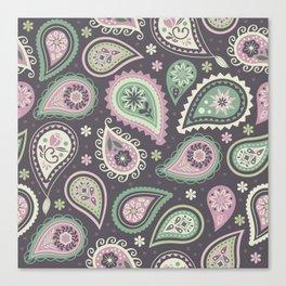 Soft romatic paisleys Canvas Print