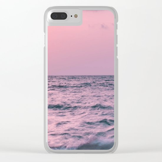 Ocean landscape at sunset Clear iPhone Case