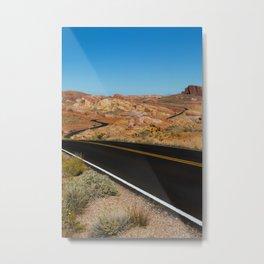 Desert Highway Metal Print