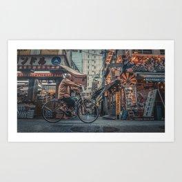 TOKYO BLOOM - TIME WHEEL Art Print