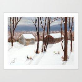Barns of Rensselaer County Art Print