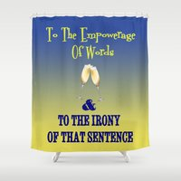 community Shower Curtains featuring Empower your Community  by Rachcox
