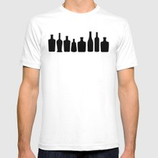 Classic Bootles SMALL White Mens Fitted Tee