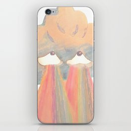 Cloud pink iPhone Skin