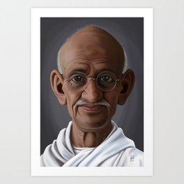 Celebrity Sunday ~ Mahatma Gandhi Art Print