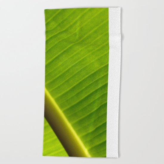 Banana Leaf III Beach Towel