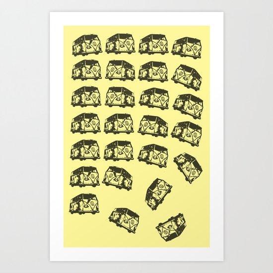 KOMBI KAOS! Art Print