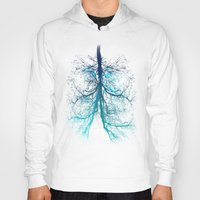 lungs Hoodies featuring Aqua Lungs by MUSENYO