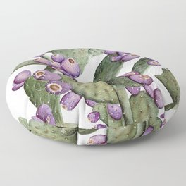Purple Prickly Pear Painting Floor Pillow