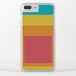 Block Colors - Teal Yellow Red Clear iPhone Case