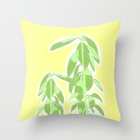avocado Throw Pillows featuring Avocado by Maria Nordtveit