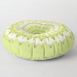 Delicate Mandala green Floor Pillow