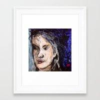 indigo Framed Art Prints featuring Indigo by Helen Syron