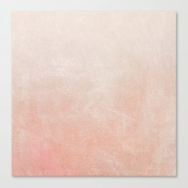 Peachy Ombre Canvas Print