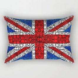 British Flag - Brittain England Stone Rock'd Art Rectangular Pillow
