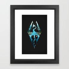 Skyrim ice Framed Art Print