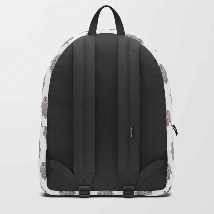 Hamsa Pattern Backpack