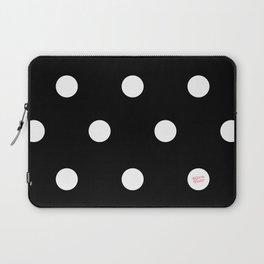 POLKA DOTS BLACK #minimal #art #design #kirovair #buyart #decor #home Laptop Sleeve