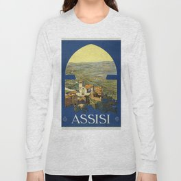 Vintage poster - Assisi Long Sleeve T-shirt