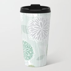 Abstract Floral by Friztin Metal Travel Mug