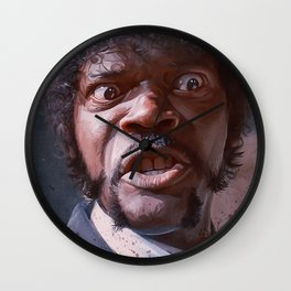 Pulp Fiction Jules Winnfield - Furious Anger Wall Clock