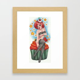 Cupcake Lady Framed Art Print