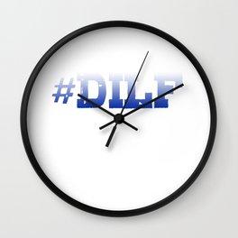Hashtag Dilf Wall Clock