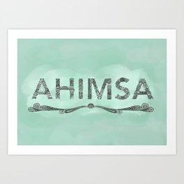 Green Ahimsa Art Print