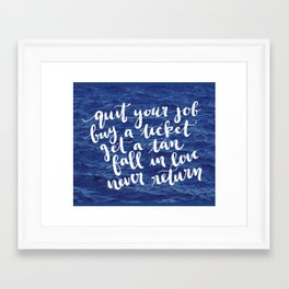 Waves Quote Framed Art Print