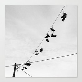 Sunday Shoes Canvas Print