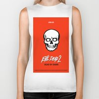 evil dead Biker Tanks featuring Evil Dead 2 - Red by Dukesman