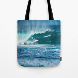 Surfing Hawaii Tote Bag