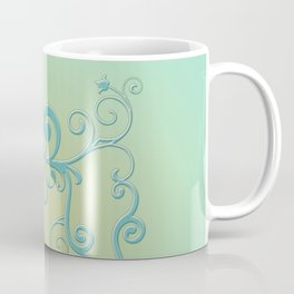 Mint tendrils emblem Coffee Mug
