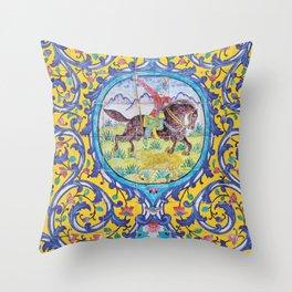 Iranian tiles Throw Pillow