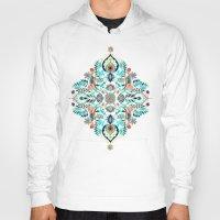 folk Hoodies featuring Modern Folk in Jewel Colors by micklyn