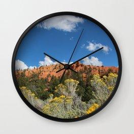 Mountain Sky, Desert Fine Art Photography Wall Clock