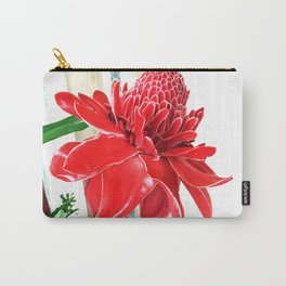 Torch Ginger Flower Carry-All Pouch