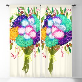 BOUQUET FLOWERS Blackout Curtain
