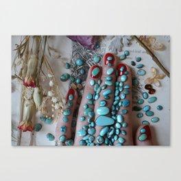Turquoise Love Canvas Print