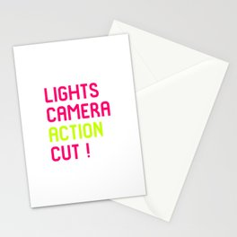 Lights Cut Camera Action Director Film School Stationery Cards