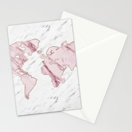 Wanderlust marble - pink stone Stationery Cards
